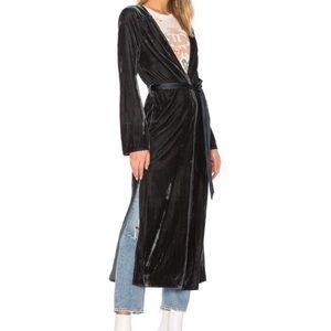 Tularosa Margie Long Velvet Duster Robe